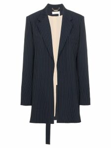 Chloé Long pinstripe wool blend blazer - Blue