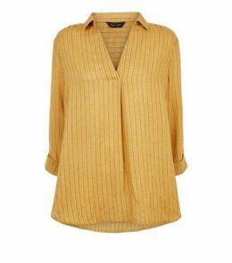 Yellow Stripe Overhead Shirt New Look