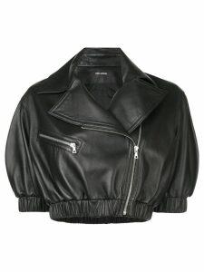 Yigal Azrouel cropped biker jacket - Black