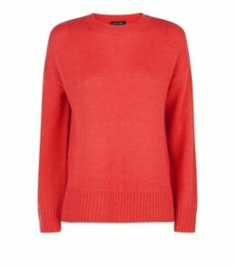 Red Longline Jumper New Look