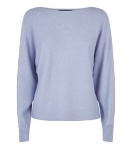 Light Purple Batwing Sleeve Jumper New Look