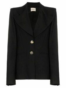 Khaite Alexis oversized lapels blazer jacket - Black