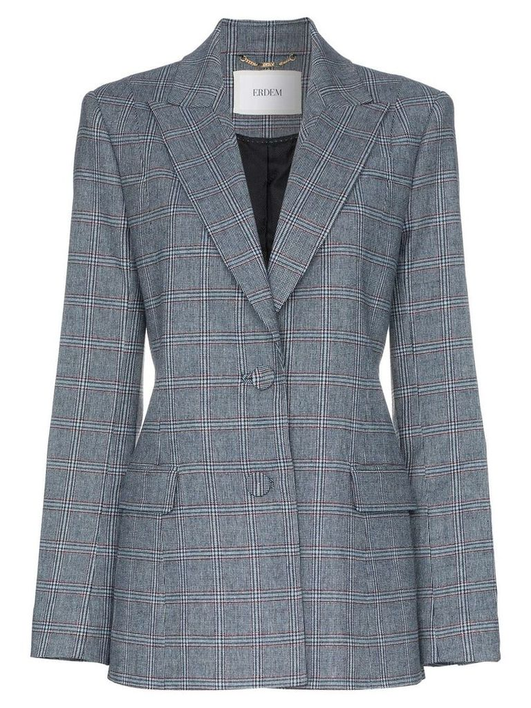 Erdem daley check blazer - Blue