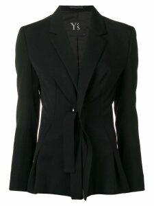 Y's tie detail blazer - Black