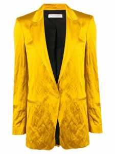 Philosophy Di Lorenzo Serafini satin button blazer - Yellow