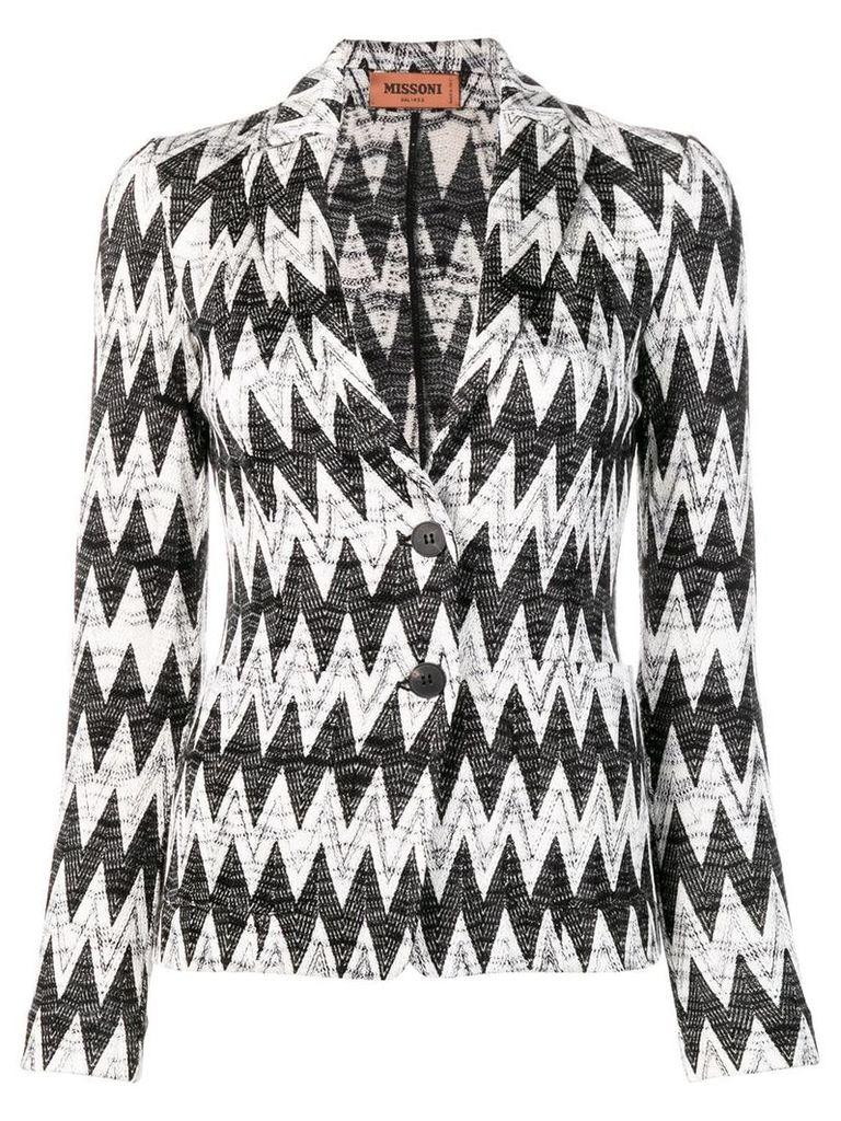 Missoni zig-zag patterned blazer - White