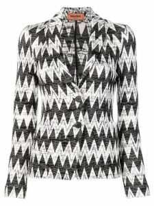 Missoni zig-zag patterned blazer - White
