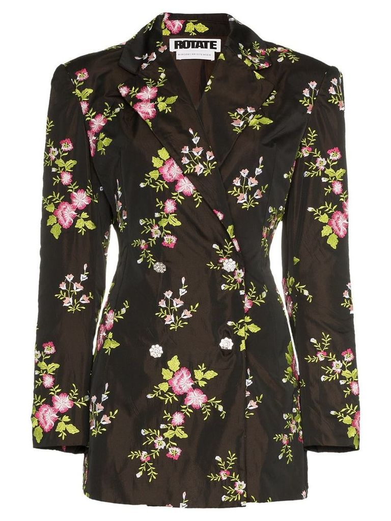 Rotate floral embroidered blazer - Black