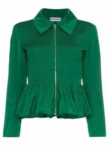 Molly Goddard Lillian peplum hem zip jacket - Green
