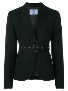 Prada belted suit jacket - Black