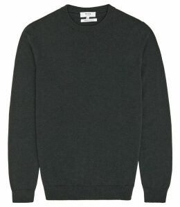 Reiss Churchill - Cashmere Jumper in Forest Green, Mens, Size XXL