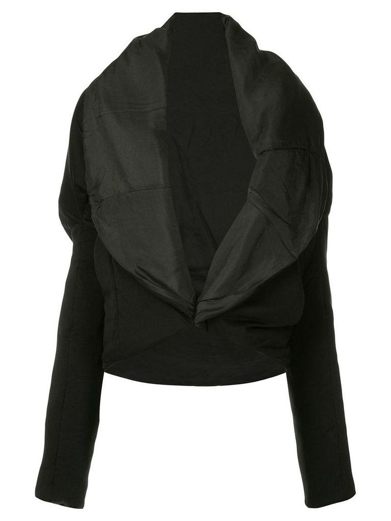 Masnada oversized lapel jacket - Black