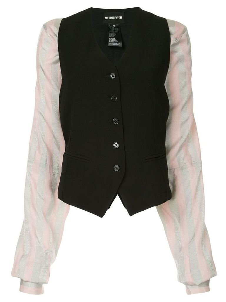Ann Demeulemeester padded waistcoat style jacket - Black