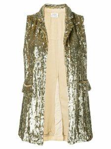 P.A.R.O.S.H. embellished draped waistcoat. - Gold