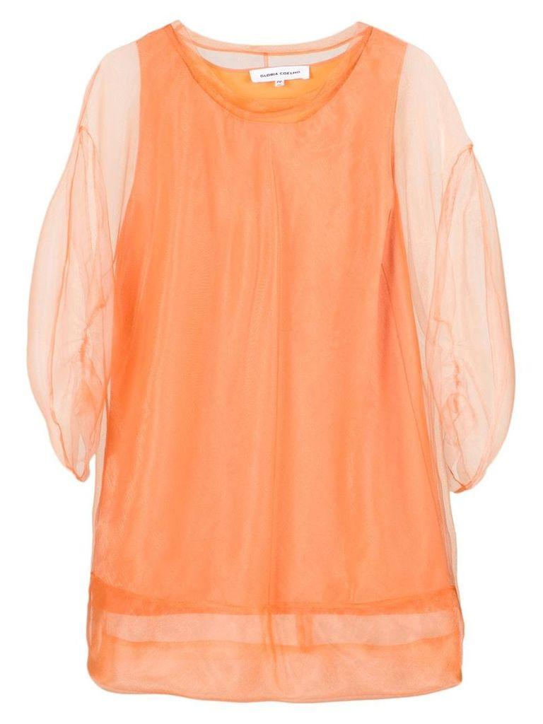 Gloria Coelho puff sleeves blouse - Yellow