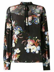 Erdem Yuki floral print blouse - Black