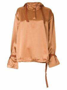Roksanda hooded blouse - Brown