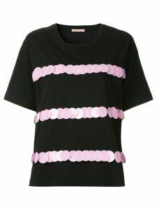 Marni embellished short-sleeve blouse - Black