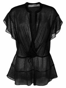 Iro wrap front blouse - Black