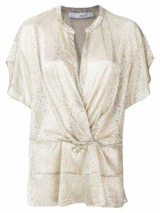 Iro wrap front blouse - Metallic