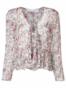 Iro patterned ruffled blouse - White