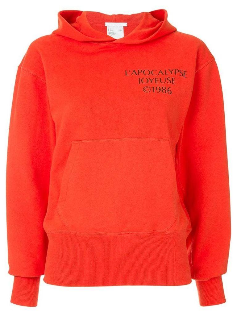 Helmut Lang Log Hack hoodie - Red