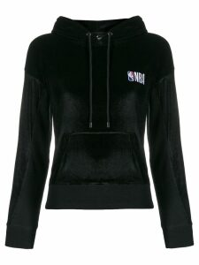 Marcelo Burlon County Of Milan NBA velvet hoodie - Black