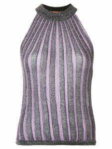 Missoni glitter halter-top - Purple