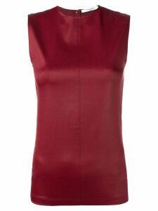 Givenchy faux-leather top - Red