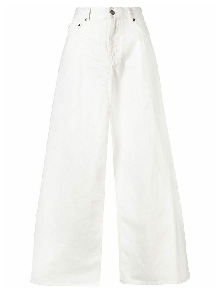 Mm6 Maison Margiela open slits skirt - White