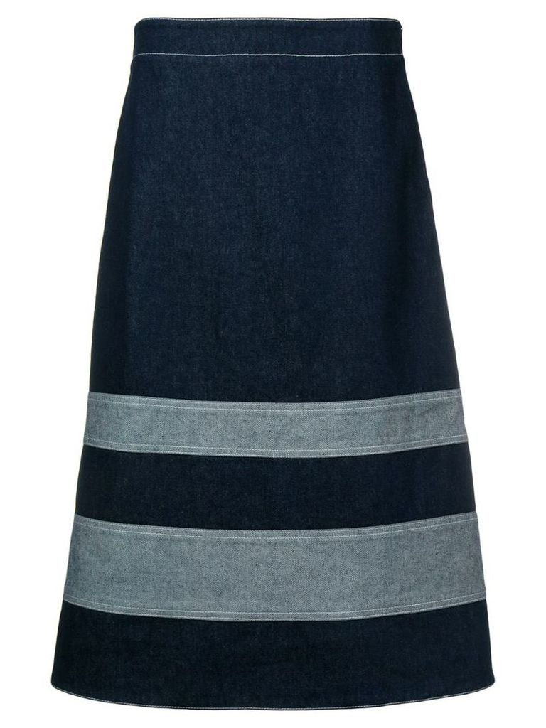 Marni A-line denim skirt - Blue