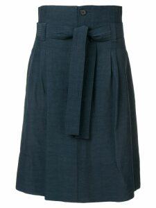 Golden Goose belted a-line midi skirt - Blue