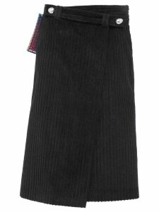 Miu Miu wraparound velvet skirt - Black