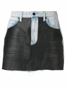Alexander Wang combined mini skirt - Black