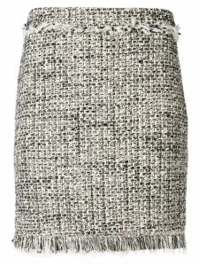 Twin-Set frayed bouclé skirt - Black