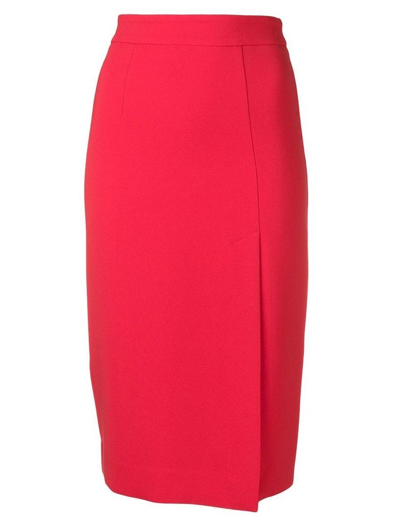 P.A.R.O.S.H. fitted midi skirt - 009 Red