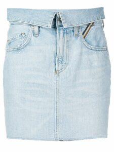 Jean Atelier denim mini skirt - Blue