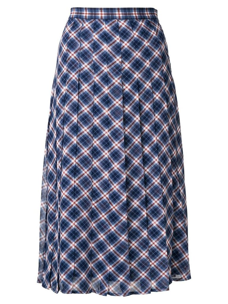 Michael Michael Kors checked midi skirt - Blue