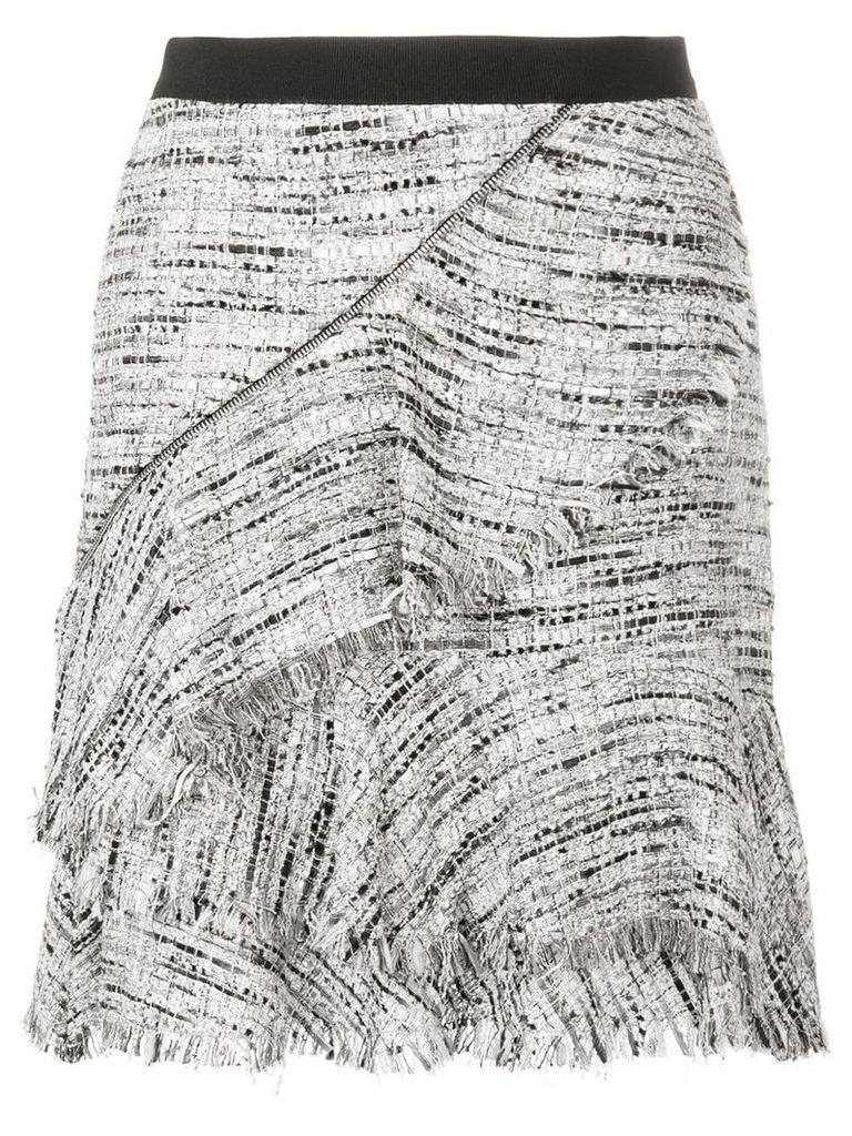 Karl Lagerfeld Boucle Skirt W/Ruffles - Grey