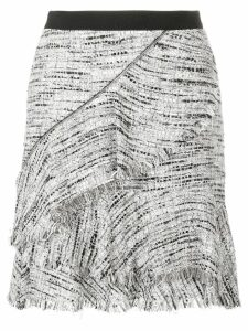 Karl Lagerfeld Boucle Skirt W/Ruffles - Grey