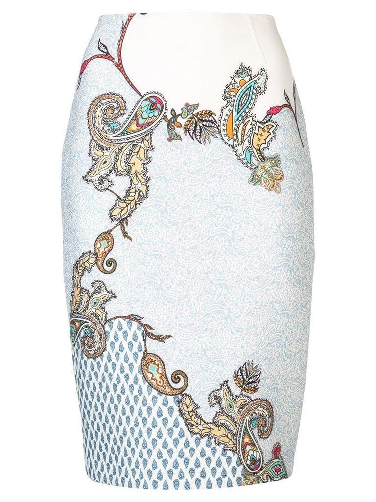 Yigal Azrouel paisley print skirt - White
