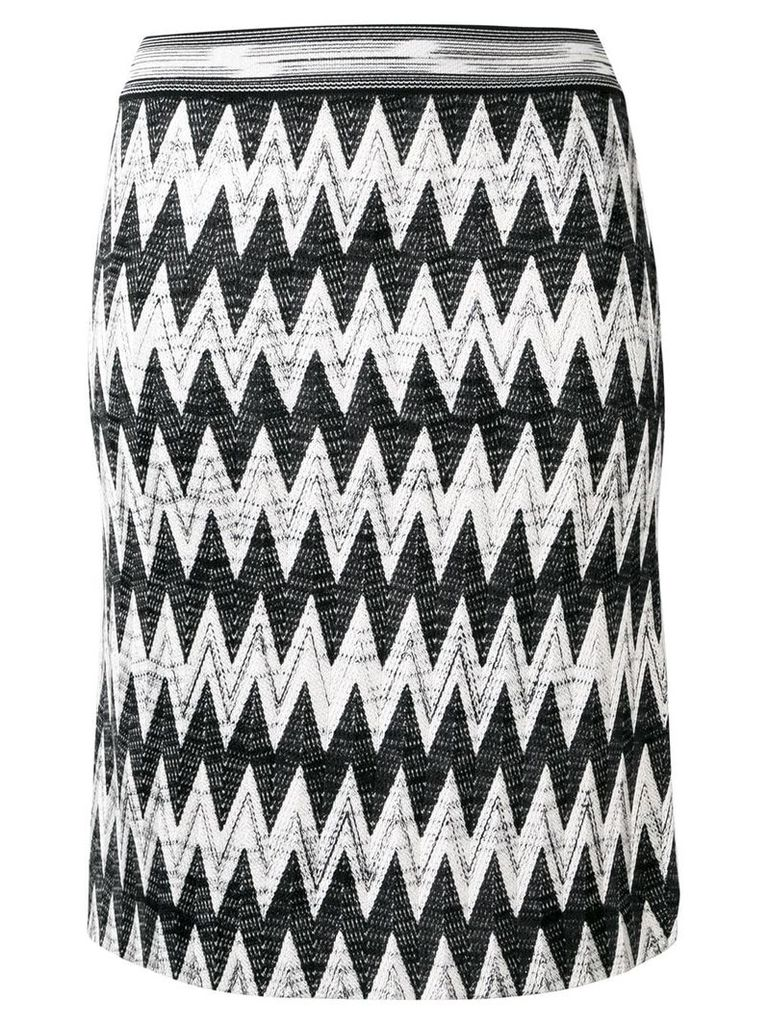 Missoni geometric knitted skirt - Black