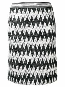 Missoni geometric knitted skirt - Black
