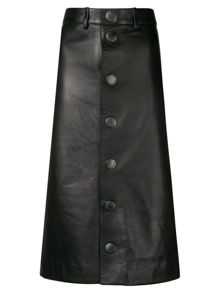 Balenciaga lambskin pencil skirt - Black