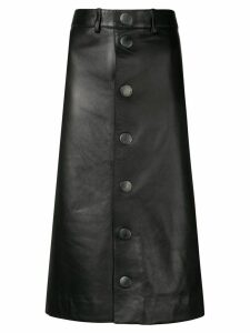 Balenciaga lambskin pencil skirt - Black