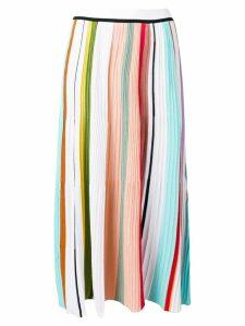 Missoni long plisse skirt - White