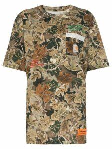 Heron Preston x carhartt camouflage leaves T-shirt - Green