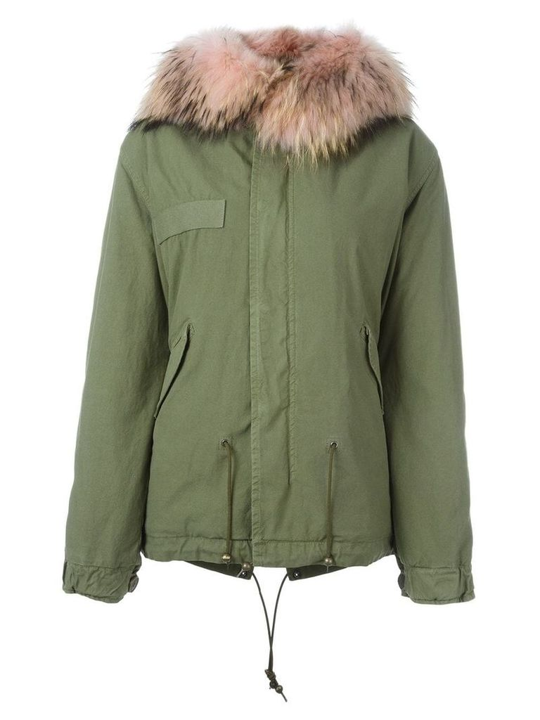 Mr & Mrs Italy fur hooded parka - Green