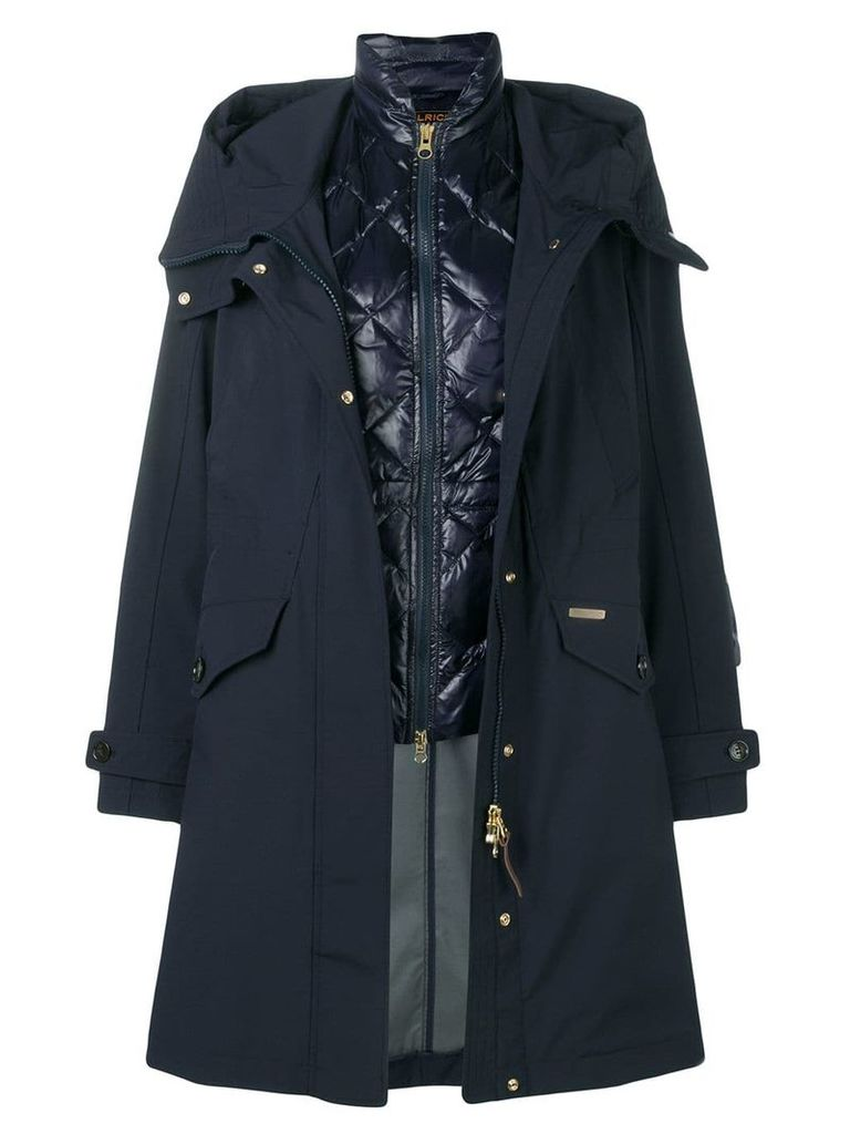 Woolrich layered padded parka - Blue