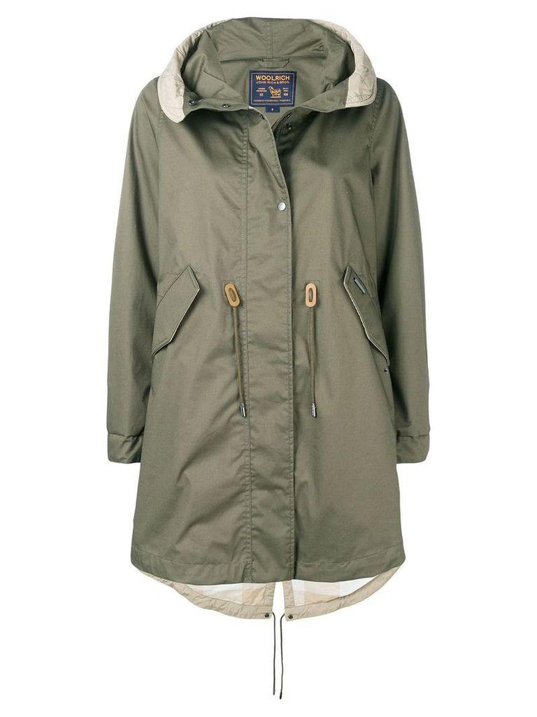 Woolrich hooded parka coat - Green